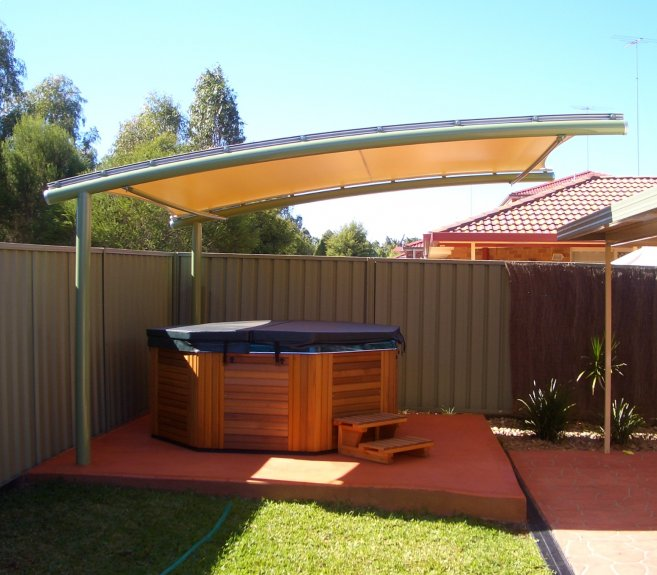 Shade sails shade structures tension structures for Home shade structures