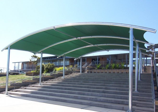 Barrel Vault Structures By Abacus Shade Structures